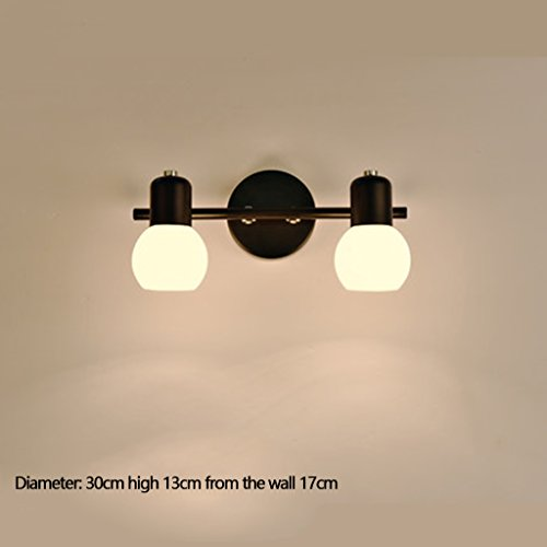 WWW Spiegel LED-lampen voor badkamer toilet badkamer commode make-up spiegel licht retro lampen zwart kroonluchter metaal plafondlamp