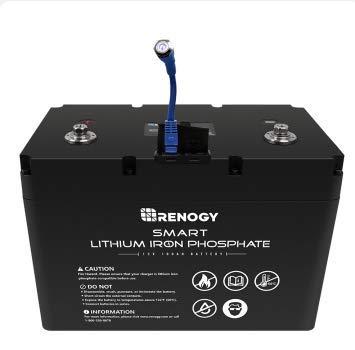 Renogy リン酸鉄リチウムイオンバッテリー 12V (PSE認証取得済) (100AHスマートバッテリー)