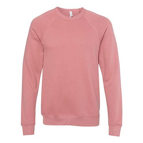 Bella + Canvas Unisex Adult Fleece Raglan Sweatshirt (XXL) (Mauve)