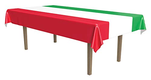 International Tablecover (red, white, green) Party Accessory (1 count) (1/Pkg)
