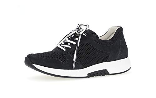 Gabor Damen Sneaker, Frauen Sneaker Low,Optifit-Wechselfußbett, Freizeit Halbschuh strassenschuh schnürer schnürschuh,Nightblue,38.5 EU / 5.5 UK