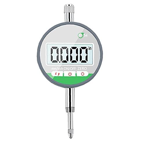 YepYes Dial Indicador calibrador del Metro IP54 Digital indicador de cuadrante Sonda 0-12.7mm Indicador de 0,001 mm de Alta precisión Negro