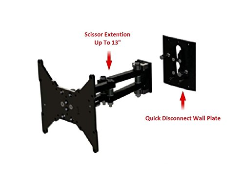 """MSCSL12-QD TV Wall Mount Up to 42"""" Removable-Disconnect Arm Scissor, Pan, Lock RV, Home -3"""