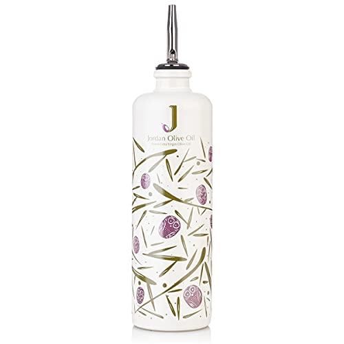 Jordan Keramik Flasche - bunte Symbole inkl. Ausgießer - 500ml Fassungsvermögen