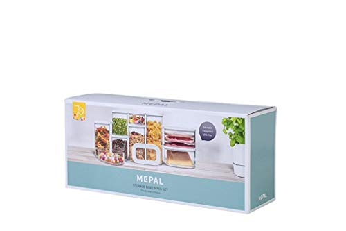 Mepal Jubiläums-Set Vorratsdosen Modula 9-teilig weiß