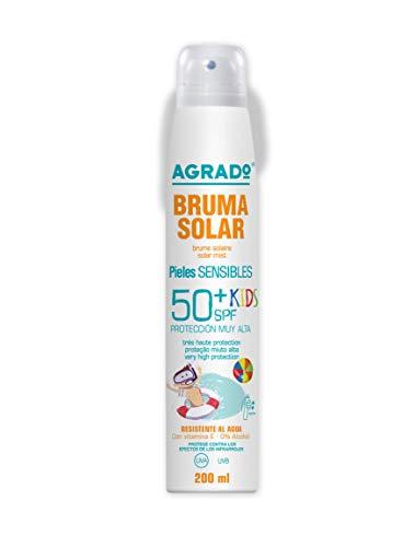 Protezione solare in Spray Idratante Varie IP UVA UVB raggi ultravioletti e infrarossi Resistente all acqua Texture leggera Invisibile - Agrado (Spray Kids 50+)