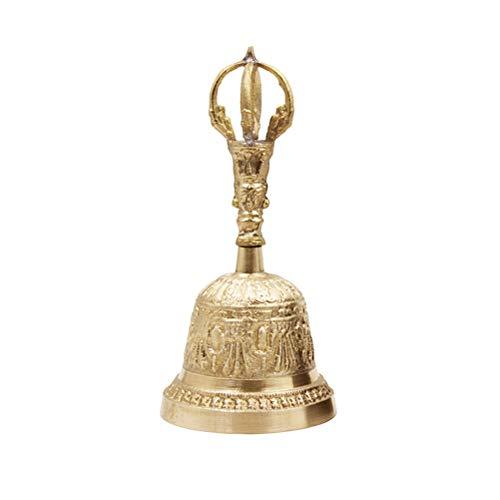 Calayu Handglocke, Messing Call Bell Anrufservice Glocke Meditation Glocke Gebet Tibetisch Buddhistische Glocke