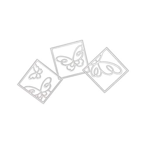 FNKDOR Stanzschablone Scrapbooking Stanzmaschine Prägeschablonen Stanzen Stanzformen Schablonen, Zubehör für Sizzix Big Shot und andere Prägemaschine (C)