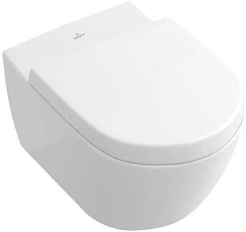 Villeroy & Boch Subway WC Set DirecFlush (spülrandlos) 5614R0R1 ceramicplus inkl. WC-Sitz 9M68S101