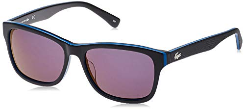 Lacoste Unisex-Erwachsene L683S 006 55 Sonnenbrille, Schwarz (Black/Bluee/Black)