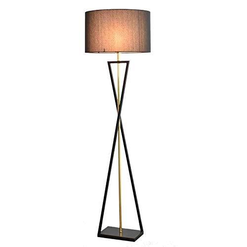 FEIYIYANG Lámpara de Pie Lámpara de pie de Tela de Hierro Vertical de Lujo Utilizada para Sala de Estar, Dormitorio, Estudio y iluminación de Comedor Lámpara de Pie Salon