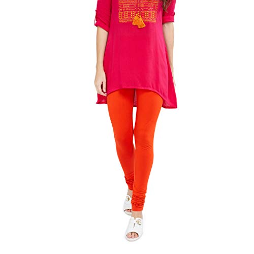 Max Women's Cotton Legging Bottom (NOSKCOR19_Orange_Small)