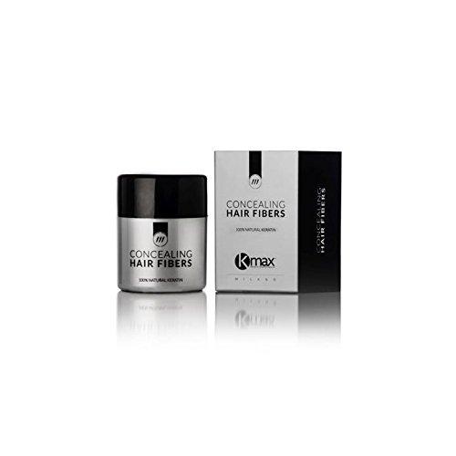 Kmax - Fibre Capillari Anti Diradamento, rimedio per perdita capelli - Regular 12,5 gr - Castano chiaro