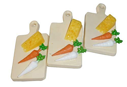 Brotzeitbrett Radi und Käse Haarspange - Spange mit Kunststoff Brotzeitbrettern, Bayerische Haarklammer, Crazy Clips Collection