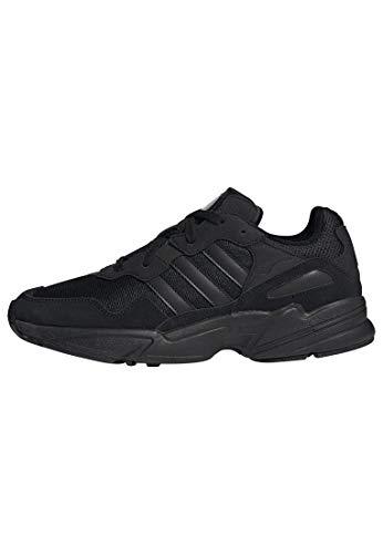 adidas Originals unisex-adult Yung-96, Black/Black/Carbon, 12 M US