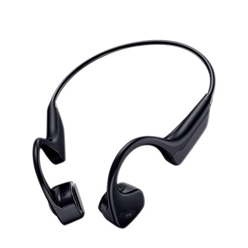 Wireless Bone Conduction Bluetooth Headphones with Microphone Open Sports Headphones Anti-Sweat-Used for Cycling, Running, Hiking and Fitness-Grey