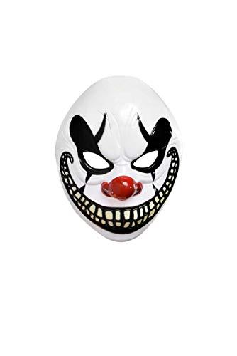Amscan Party Adults Halloween Freak Show Clown Mask, White, 9.5″ x 8″
