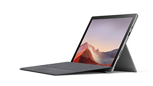 """Microsoft Surface Pro 7 Ordinateur Portable (Windows 10, écran Tactile 12.3"""", Intel Core i5, 8Go RAM, 128Go SSD, Platine) + Clavier AZERTY français Type Cover Gris Anthracite"""