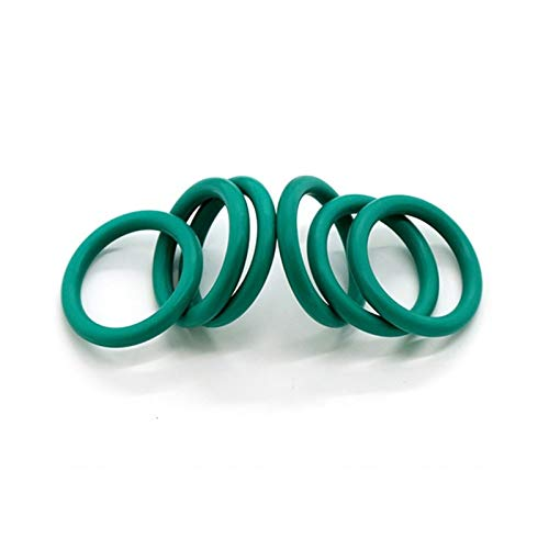 WYanHua-Gasket O Ring, CS 2mm OD 5-60mm, Green FKM Fluorine Rubber O Ring O-Ring Oil Sealing Gasket, Made (Size : 24mm X 2mm 10pcs, Thickness : 1.9mm)