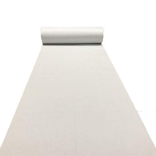 Wedding Rug Aisle Runner-JINRONG White Carpet Wedding Runner Ceremony Aisle VIP Carpet Event Rug Multi-Size Optional (Color : White, Size : 330m 350m)