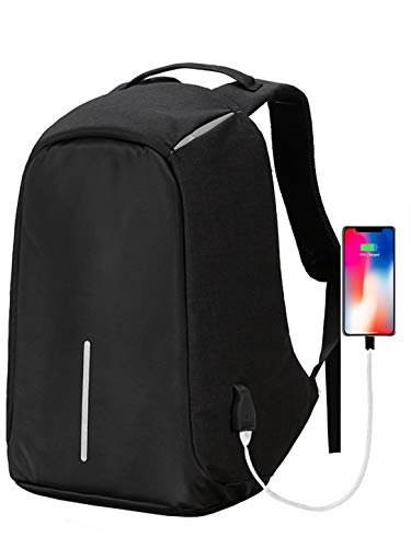 Dewtun Laptop Bag for Men Waterproof 15.6 inch Anti Theft Backpack with Mobile Charging USB Port Latest Stylish for Office College Travelling or Business Purpose (Dark Grey) 11