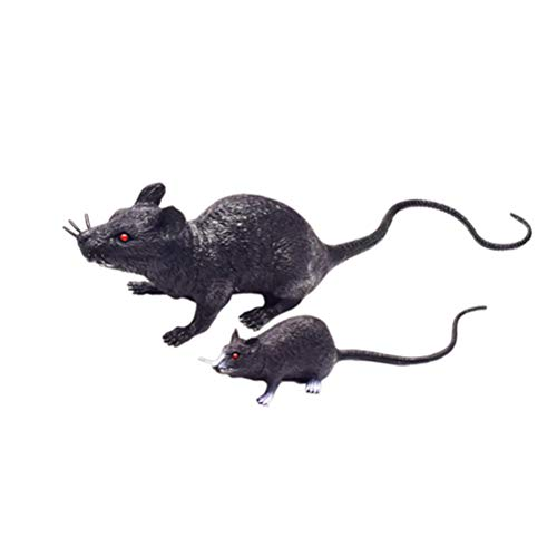 Novidade e brinquedos interessantes 2 PCS modelo de mouse imitado brinquedo engraçado brincadeira novidade criativo brinquedo complicado adereços fotográficos para jogo de festa, dia da mentira ( preto