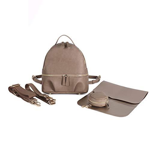 Treehomein - Cambiador de pañales para bebé con bolsa para chupete y cambiador de pañales de gran capacidad para mamás