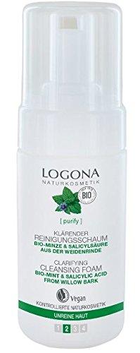 Logona Bio Reinigungsschaum mit Minze und Hamamelis, 100 ml