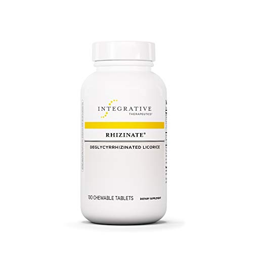Integrative Therapeutics - Rhizinate - Deglycyrrhizinated Licorice (DGL) - Original Licorice Flavor - 100 Chewable Tablets