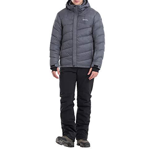 YUDING Skianzug für Herren, warm, atmungsaktiv, Winddicht, wasserdicht L grau