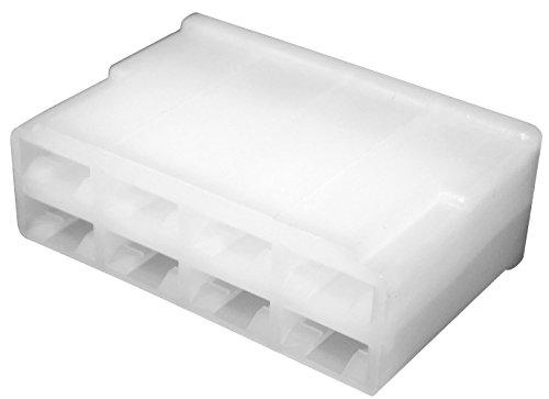 Aerzetix: 10 x Gehäuse Anschluss leer 8 Wege für Kabelschuh weiblich 6.3 mm