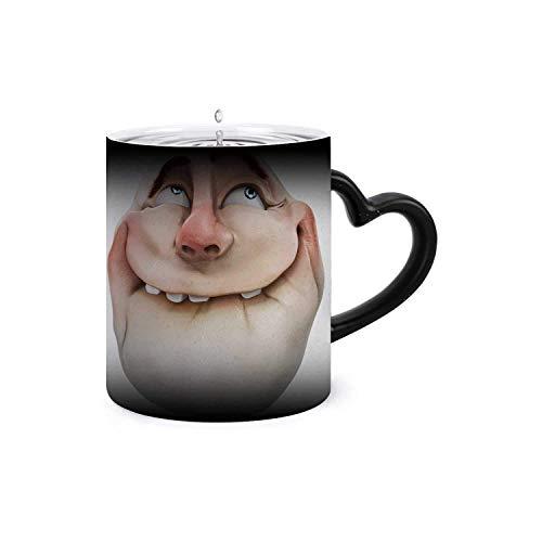 Rage comics face,Funny Coffee Milk Ceramics Mug Color Changing Mug- Add Coffee or Tea internet meme.3D isolated 11oz