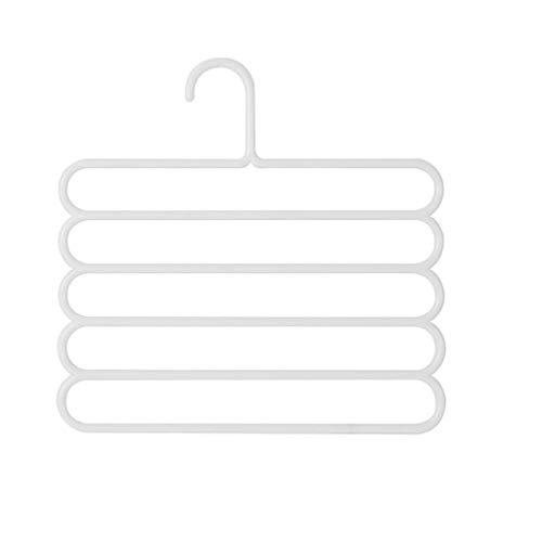 XYZMDJ 1pc Blu Antiscivolo Pantaloni Gancio Rack Asciutto Pantaloni Multifunzione Pantaloni Appendiabiti Cravatta sciarpesina Asciugamano a Nastro Multi Layer abitanti titolari nordici (Color : B)