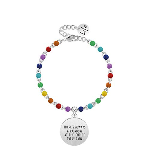 KIDULT Bracciale THERES ALWAYS A RAINBOW AT THE END OF EVERY RAIN -731829