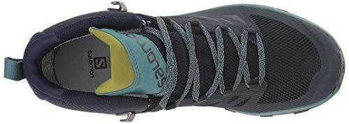 Salomon Women's OUTline Mid GTX W Hiking Boots, Navy Blazer/Hydro./Guacamole, 8.5