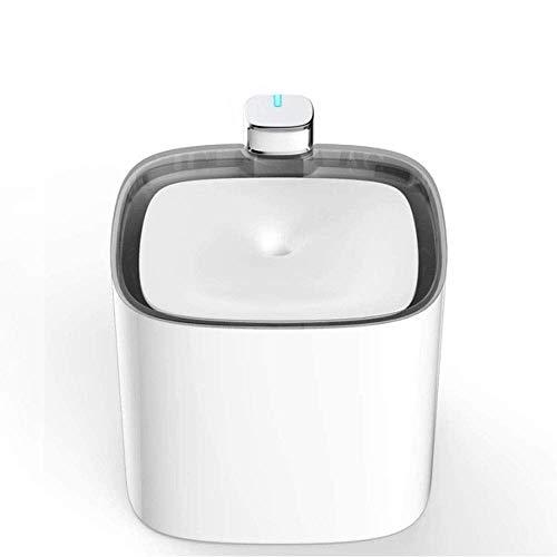 HYISHION Gato Fuente de Agua Potable - 100% por Completo de filtración con Filtro de carbón Activado - 3L Ultra silencioso Fuente del Animal doméstico, Gato Fuente de Agua de la Cascada SKYJIE