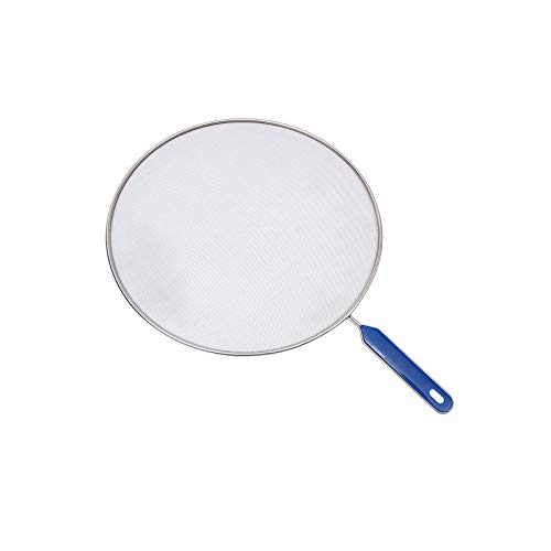 LARATH 8 Inch Grease Splatter Screen Guard Stainless Steel Splash Screen Protector Guards with Handle Splash-Proof Frying Pan Mesh Pot Lid Cover for Kitchen Cooking Gadgets
