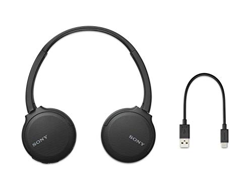 Sony WH-CH510 Wireless Bluetooth Headphones with Mic, 35 Hours Battery Life with Quick Charge, On-ear Style, Hands-Free Call, Voice Assistant - Black