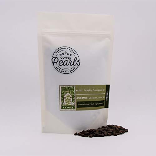 Ismaili Kaffee 100% Arabica - Hochwertiger Spezialitäten-Kaffee aus dem Jemen │ ganze geröstete Bohnen │Espresso (Dunkel, 250g)