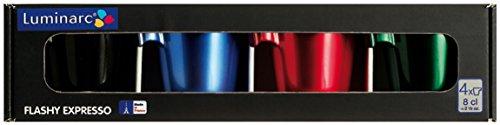 CreaTable, 14088, Serie Flashy Espresso, 4-er Set Geschenkkarton