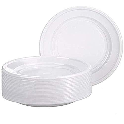 Totò Piccinni Piatti Queen in Plastica Monouso Extra rigidi Anche per Microonde Confezione da 1 kg (1 Confezione, Fondi)