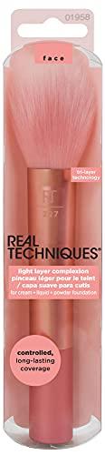 Real Techniques - Brocha para maquillaje ligero con polvo y polvos...