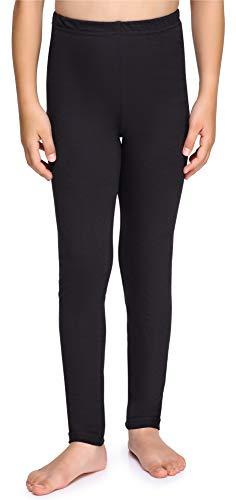 Merry Style Mädchen Lange Leggings aus Baumwolle MS10-225 (Schwarz, 140 cm)