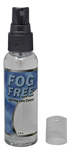 Fog Free™️ Spray anti niebla para gafas   Botella de spray de 2 oz   Desempañador para gafas   Dura hasta 5 días   Solo para lentes no reflectantes   Paño de microfibra y bolsa   1 paquete
