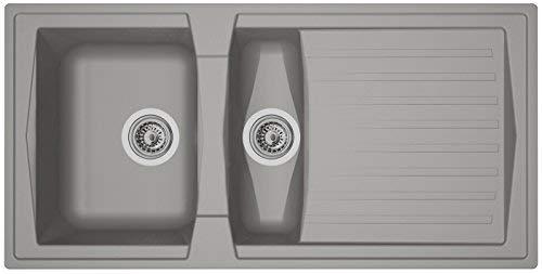 respekta BOSTON100X50G - Lavandino, 100 x 50 cm, colore: Grigio