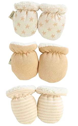 Newborn Mitten Gloves Winter Warm Fleece Glove for Baby Boys Girls 0-12 Months ?3 Pairs? (mixed,one size)