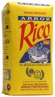 Arroz Rico, Puerto Rico's Best - #1 Medium Grain White Rice - 3 Pounds Bag