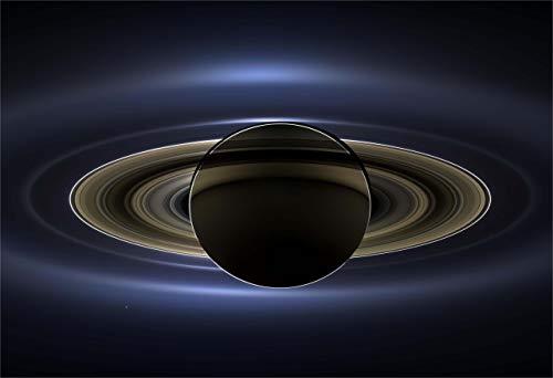 New Horizon Aviation, LLC Saturn and Earth Cassini Fine Art Print