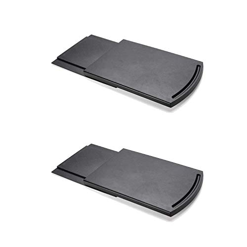 GAGAYA Handy Sliding Tray for Coffee Maker, Kitchen Appliance Moving Caddy, Countertop Storage Mat with Smooth Rolling Wheels for Blender Toaster Food Processors Kitchen Aid Mixer (Set of 2)