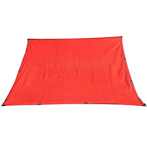 Telas para toldos WXYZ Gran Red de sombrillas Rojas, Ritmo de sombreado del 90%, Gran sombrilla de la Sombra para Coches de Plantas, a Prueba de Viento, a Prueba de Polvo y protección UV